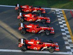 Massa, Schumacher, Genè, Badoer - Monza 29/10/2006