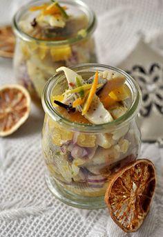 śledzie Snacks Für Party, Polish Recipes, Menu, Canning, Vegetables, Food, Fotografia, Menu Board Design, Polish Food Recipes
