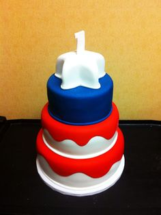 Red, White and Blue! | Oklahomas Premier Wedding Cake Designer and Sugar Artist