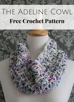 The Adeline Cowl Free Crochet Pattern by Posh Patterns. ☂ᙓᖇᗴᔕᗩ ᖇᙓᔕ☂ᙓᘐᘎᓮ http://www.pinterest.com/teretegui