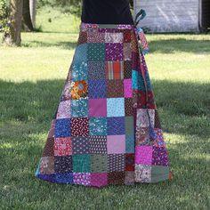 Patchwork hippie skirt!