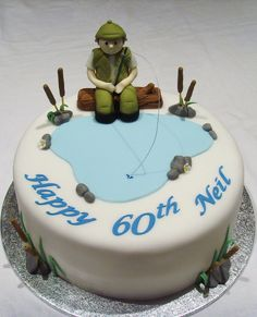 https://flic.kr/p/7mH7GC | Fisherman Cake | Fishing themed cake www.thecustomcakeshop.co.uk Please visit my Facebook business page for my most recent work. www.facebook.com/TheCustomCakeShop
