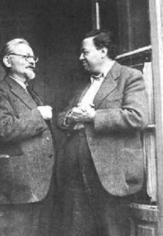 "Leon Trotsky & Diego Rivera, 1940. ""...the October revolution has found her greatest interpreter not in the USSR but in faraway Mexico... Without October, his power of creative penetration into the epic of work, oppression and insurrection, would never have attained such breadth and profundity. Do you wish to see with your own eyes the hidden springs of the social revolution? Look at the frescoes of Rivera."" - Leon Trotsky"