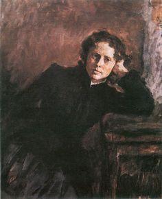 Valentin Serov (1865 –  1911) - By the Window. Portrait of Olga Trubnikova, 1885