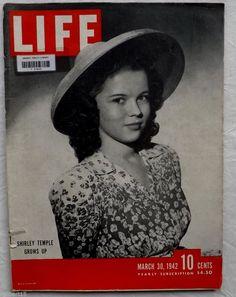 Shirley Temple Bruma Flying Tigers World War Two VTG 1942 March 30 LIFE Magazine