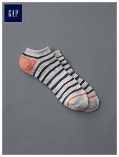 Thin stripe ankle socks