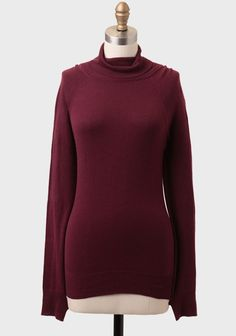 Fond Of You Turtleneck Sweater In Wine