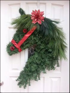 Artificial Greens Horse Head Wreath - (source unknown)