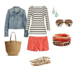 cute Spring weekend look I actually like those twill shorts from J Crew, created by lcbsjb