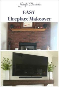 Watch this DIY on how to create an amazing faux brick wall in easy steps and covert the old brick wall in your home into a beautiful looking faux brick wall. Old Brick Wall, Faux Brick Walls, Brick Paneling, Decorating Your Home, Diy Home Decor, Old Bricks, Entertainment Center Decor, Diy Tv, Home Comforts