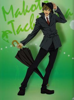 [Official Art] High☆Speed! -Free! Starting Days- Movie Ticket Special Clearfiles - Makato Tachibana