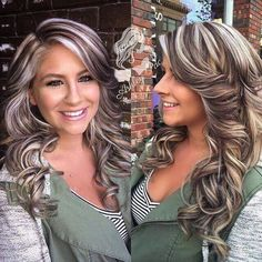 Flaw free 🙌🏻 Hair and makeup on point 😝 touched up her lowlights to a gorgeous ash brown and a glaze to brighten those pearly blonde highs! Love Hair, Gorgeous Hair, Grey Balayage, Ash Brown Hair, Hair Color Highlights, Chunky Blonde Highlights, Blonde Hair Brown Lowlights, Hair Highlights And Lowlights, Hair Color And Cut