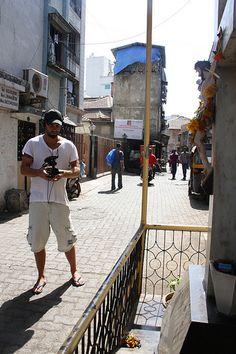 Bass Dickson From Australia At Bandra Bazar Road ...Shooting the Beggar Poet