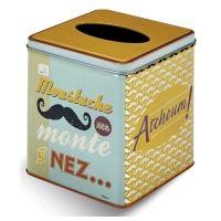 Lata vintage para pañuelos bigote