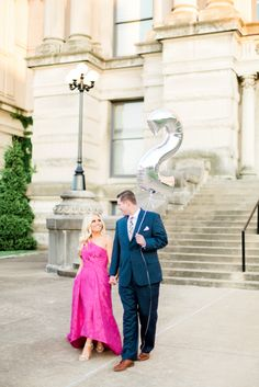 Anniversary photo session in formal wear at the Old Courthouse in Evansville, IN. Photographed by Morgan Williams Photography. To see more, visit http://morganwilliamsphoto.com/2017425callie-jordans-elegant-engagement-session-at-the-mccurdy-and-downtown-evansville/.