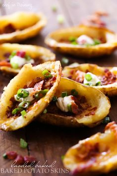 Loaded Baked Potato Skins - These are SO easy to make and are a perfect appetizer! They are crisp and packed with flavor!