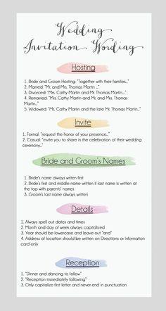 DIY Wedding Invitation Wording #wedding #weddinginvitations #diy by Pink Champagne Paper www.pinkchampagnepaper.com