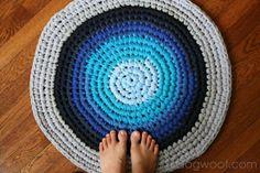 crochet tshirt rug
