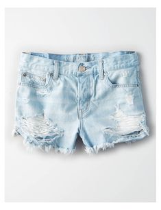 AE Tomgirl Short Short, Silver Blue Destroy | American Eagle Outfitters