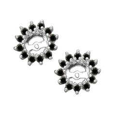 14K White Gold 1/2 (.5) ct Black Diamond Earring Jackets FindingKing. $484.99