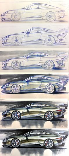 Daily Sketch: Porsche Rendering Workflow by Michele Leonello more sketches: Check his FB page https://www.facebook.com/mleonello