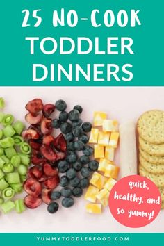 cool and feed the kids healthy meals with this list of the best no-cook toddler meals!Stay cool and feed the kids healthy meals with this list of the best no-cook toddler meals! Quick Meals For Kids, Healthy Toddler Meals, Toddler Lunches, Healthy Kids, Kids Meals, Toddler Food, Toddler Dinners, Toddler Nutrition, Easy Toddler Snacks