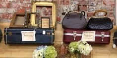 Vintage Suitcase Ledges / Suitcase Shelf / Large Suitcase Ledges / Suitcase Backs by VintageBaublesnBits on Etsy https://www.etsy.com/listing/155050938/vintage-suitcase-ledges-suitcase-shelf