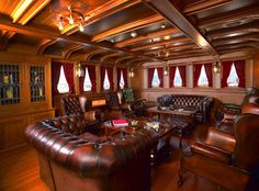 """Delphine The Michigan steamship The """"Lady"""" of steel launched in 1921 for Horace Dodge, the S. """"Delphine"""" is now re. Gentlemans Lounge, Cigar Room, Man Room, Smoking Room, Pipe Smoking, Cigar Smoking, Luxury Yachts, My Dream Home, Cigars"""