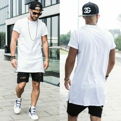 Kosta Williams - Trill4 Snapback, Visionary Vsy Long Extended Tee, Cheap Monday Jeans Short, Raf Simons Velcro - Trill