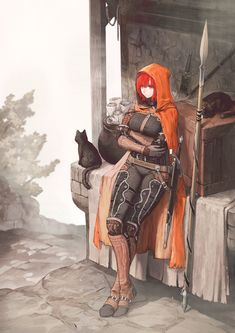 Safebooru is a anime and manga picture search engine, images are being updated hourly. Female Character Design, Character Design Inspiration, Character Concept, Character Art, Concept Art, Animation Character, Fantasy Armor, Medieval Fantasy, Anime Kunst