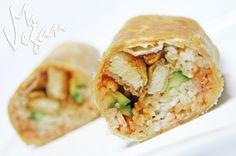 Orange Chicken-less Burrito