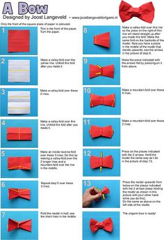Origami bowties are cool.