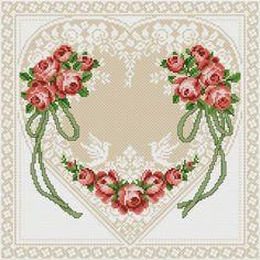Etamin Şablonları Kalp Desenleri 74