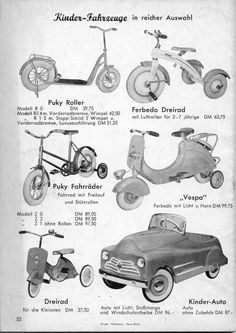 ferbedo - Google-Suche Vespa, Pedal Cars, Google, Tricycle, Childhood Memories, Search, Vehicles, Wasp, Hornet