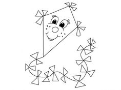 coloring pictures of kite Drawing For Kids, Painting For Kids, Sunday School Coloring Pages, Crafts For Kids, Arts And Crafts, Finger Plays, Pictures To Draw, Draco, Coloring Sheets