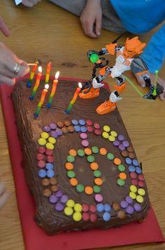 Cute Lego Hero Factory Cake Idea