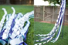 another view of the paper chain garland