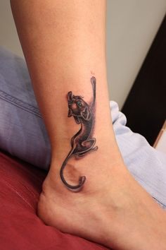 tattoos, cat, ankle, cool, color, design, ideas