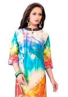 Digital Printed Designer Cotton Kurti Full Set Only