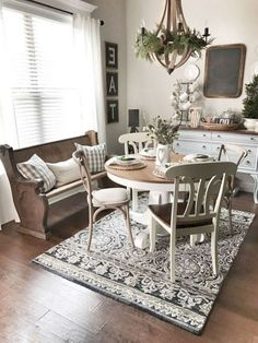 40 Interesting Shabby Chic Living Room Designs Ideas - Page 26 of 40 Shabby Chic Dining Room, Farmhouse Dining Room Table, Chic Living Room, Shabby Chic Homes, Shabby Chic Furniture, Living Room Furniture, Living Rooms, Antique Furniture, Country Furniture