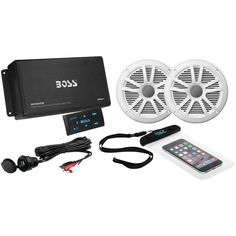 Boss Audio Marine Amp With Bluetooth & Marine Speakers Package