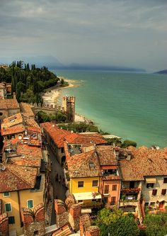 Sirmione, Lake Garda, Italy. Beautiful! Hope it never floods. XD Ill just visit in the dry season haha
