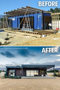 Building A Container Home, Container Cabin, Storage Container Homes, Container Buildings, Container Architecture, Container House Plans, Container Houses, Container House Design, Tiny House Design
