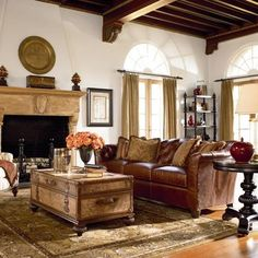 Love this style - especially the trunk/coffee table.