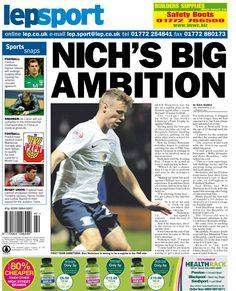 Lancashire Evening Post back page 17/10/13