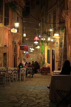 Chania Old Town by night