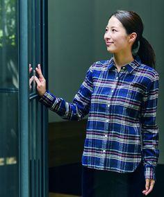 An autumn essential Muji, Flannel, Organic Cotton, Men Casual, Plaid, Autumn, Classic, Shirt, Mens Tops