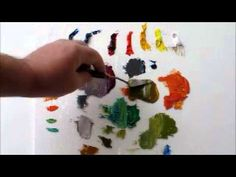 How to Mix Color: The Many Shades of Gray, Split Primary Palette gray color kaisa hota h - Gray Things Acrylic Painting Techniques, Painting Videos, Painting Lessons, Art Techniques, Art Lessons, Painting & Drawing, Watercolor Painting, Mixing Paint Colors, Color Mixing