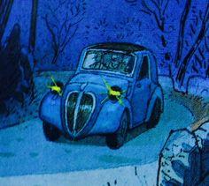 Simca 5 / Fiat 500 Topolino / 1936 -  Jean Pierre Gibrat