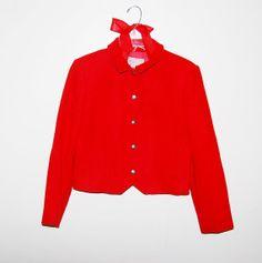 Vintage Pendleton Red Wool Jacket by CheekyVintageCloset on Etsy, $32.00